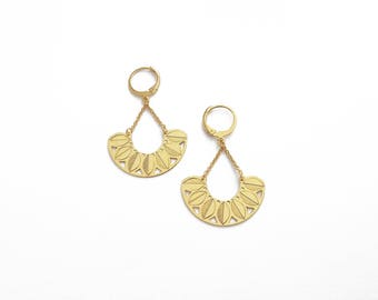 """Earrings """"Canopy"""" gilded with gold 24 carat"""