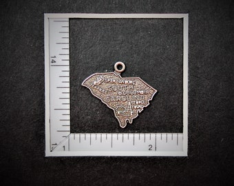 South Carolina State Sterling Silver Charm from StoryTeller Charms 578