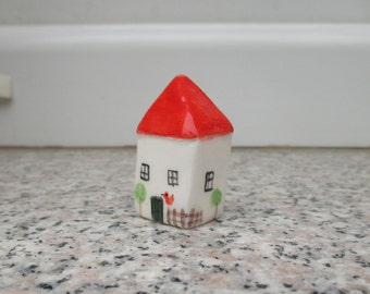Little Pottery House,Little Clay House,Cute Small House,Small cottage,Fairy house,Miniature House,Terrarium House,Small details,Collectible