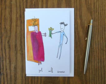 Get Well Soon ish: A6 greeting card