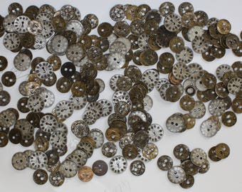 Set of matalic buttons  450grammes as in picture