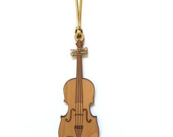 Wood Violin / Viola Ornament