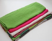 Set of 6 Cotton/Linen Mix Kitchen Towels - Soft and Light Tea Towels - SET OF 6