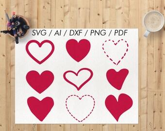 Heart svg / Cricut heart svg / Hearts svg / Heart cutting file / Heart svg file / Heart svg cut file / Hearts clipart / Heart clipart /