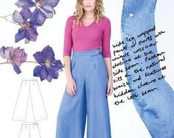 Flint Pants and Shorts Paper Pattern- Megan Nielsen Patterns