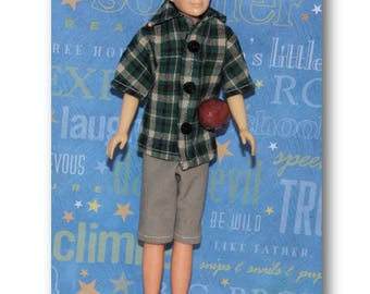 Play Football - 50's Style Clothes fit Ricky size boy dolls and Stacie. (Clothes only, Ricky Doll not included) Shirt, Shorts and Football.