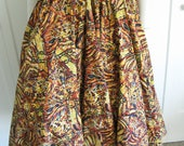 """Vintage 50's Cotton Circle Skirt //  Monarch Butterfly Wings Novelty Print Waist 26"""""""