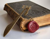 Tudor Rose Bookmark Tudor Wax Stamp Bookmark Hand Clayed History Book Gift Metal Bookmark Nerdy Gifts History Gift Christmas Gift Henry VIII