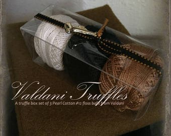 "Valdani Thread: Gift Set/3 Perle Cotton Embroidery Thread Balls - ""Fall Notes"" Collection"