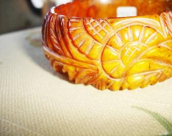 1K Carved Bakelite Bracelet