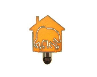 Bear Rusty Metal Night Light