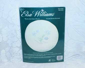Elsa Williams Wildflower Circle Pillow Stitchery kit #00473 by JCA Made in USA! Sealed