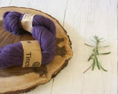 Wool, merino roving 100g skein, DK, Logwood Dyed, Double knit, natural dyes, plant dyes, purple