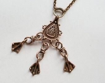 Kalevala Koru Bronze Pendant and Chain, Finland (F1254)