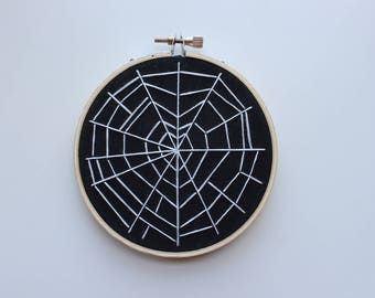 Spiderweb Heart Hand Embroidery