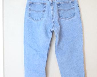 vintage 1980's high rise  mom  jeans denim 30