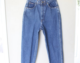 vintage CHIC 1980's high rise waist distressed  mom  jeans denim 28