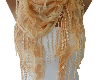 Peach Scarf Shawl Spring Summer Scarf Bohemian Women Fashion Accessories Gift For Her For Women Mom Bridesmaids Gifts Peach Wedding Scarf