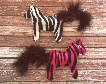 Zebra Cat Toys, Felt Toys, Catnip or Valerian, Kitten Play, Kitten Toys, Unique Cat Toys, Kitten Toys, Weird Cat Toys, Handmade Toys
