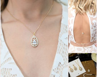 back drop bridal necklace,back drop necklace,wedding backdrop necklace,bib necklace,bridal backdrop necklace,back jewelry,wedding necklace