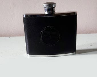 Vintage Stainless Steel 4 Fluid Ounce Hip Flask