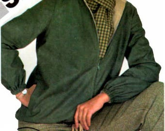 Sewing Pattern Vintage 1980s Simplicity 9978 Misses Reversible Jacket