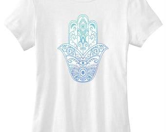 Hamsa hand evil eye graphic t-shirt funny ladies girls women tee tumblr instagram gift girls