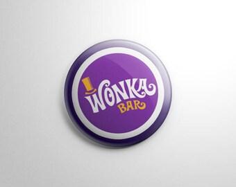 Willy Wonka & the Chocolate Factory Wonka Bar (D) Button / Keychain