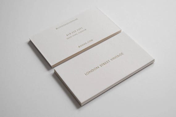 100 double sided custom letterpress business cards like this item colourmoves