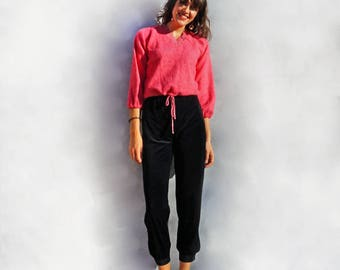 Vintage Pink Jumper, 90s Pink Jumper, Womens Pink Sweater, Cropped Jumper, Pink Pullover, Vintage Sweater, Slouchy Jumper, Oversized Sweater