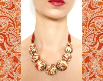 Paisley Pattern Necklace