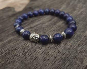 Lapis gemstone siddhartha strech bracelet