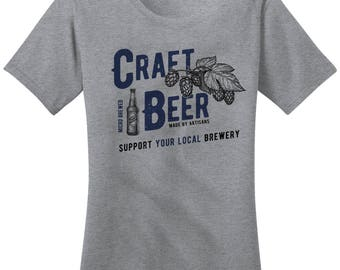 Women's Craft Beer Support Local Brewery Tees Brew Master Shirts By Sarah