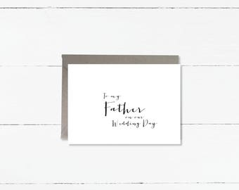 To my father on our wedding day notecard