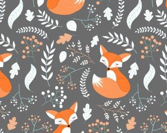 Fox fabric etsy for Fox print fabric