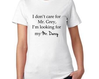 Jane Austen- Mr. Darcy- Pride and Prejudice T Shirt for Women