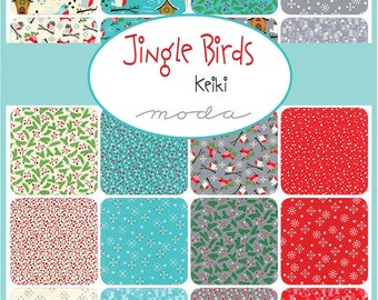 JINGLE BIRDS By KEIKI Collection Fat Quarter Bundle ( 20 fq's ) For Moda Fabric
