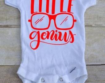 Little Genius bodysuit/ Little Genius Outfit/ Little Genius shirt / Little Genius baby/ Little Genius clothing