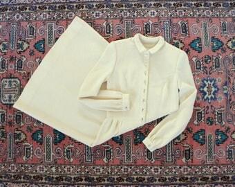 70s winter white knit dress
