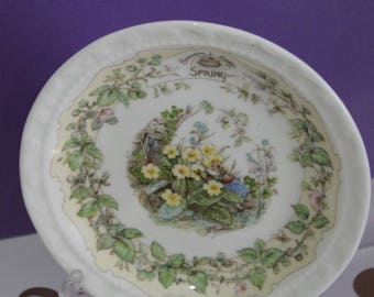 Brambly Hedge Spring Miniature Plate by Royal Doulton Fine Bone China Collectable.
