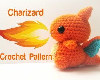 Charizard Crochet Pattern - Pattern Only
