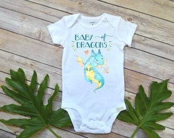 Baby of Dragons, Baby Shower Gift, Dragons Shirt, Cute Baby Gift, Nephew Gift,Niece Gift, Newborn Baby Gift, Dragons Party, Dragons Theme