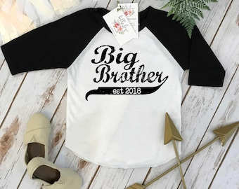 Big Brother Shirt, Brother Baseball Shirt, Brothers Shirts, Big Brother Onesie®, Promoted to Big Brother, Brothers tees, Big Brother Reveal