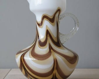 An aline vase in the colors brown, beige and white, V.B. Florence Italy.