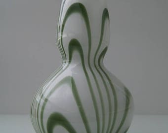 Beautiful Retro vase in the style of Carlo Moretti in the color green from the years ' 60.