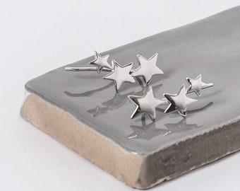 Sterling Silver Shooting Star Ear Climber Earrings