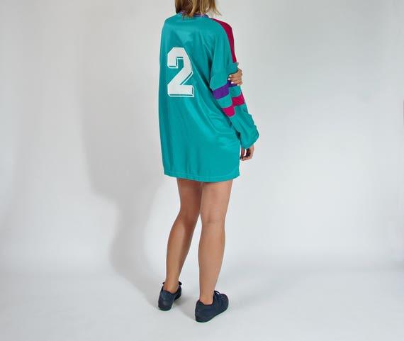 90s Jako neon colors oversized sport longsleeve / size xxl