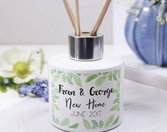New Home Reed Diffuser Gift Set - Reed Diffuser - New Home Gift - Personalised New Home Gift - Scented Home Gift - Reed Diffuser