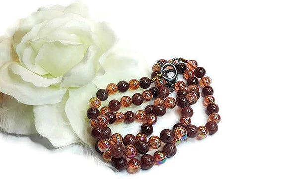 Brown Agate necklace and bracelet