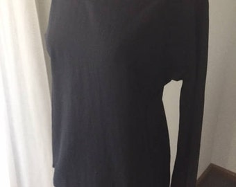 YSL – Yves Saint Laurent – Rive Gauche Contempory Black 1990's Top Tunic
